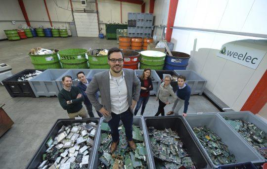 E-waste duurzaam verwerken tot nieuwe grondstoffen